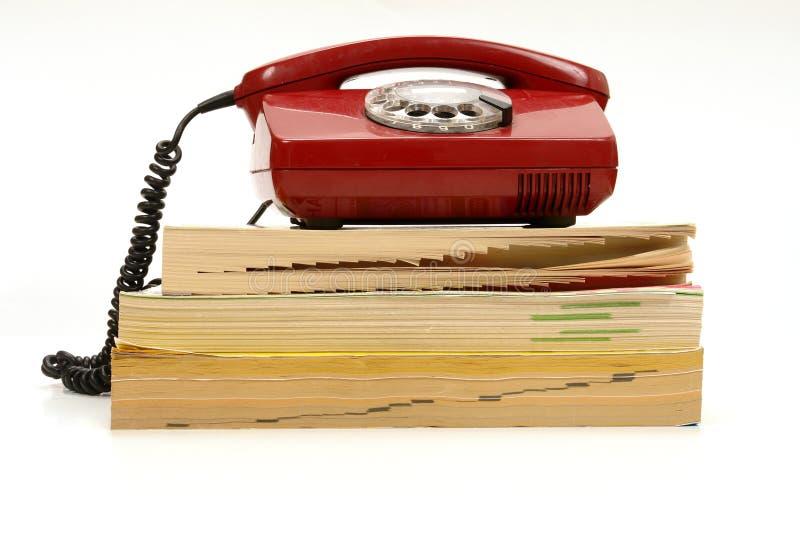 Telefon-Buch stockfotos