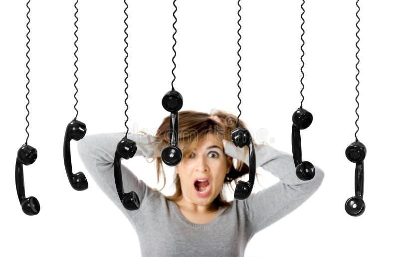 Telefon-Druck lizenzfreie stockfotografie