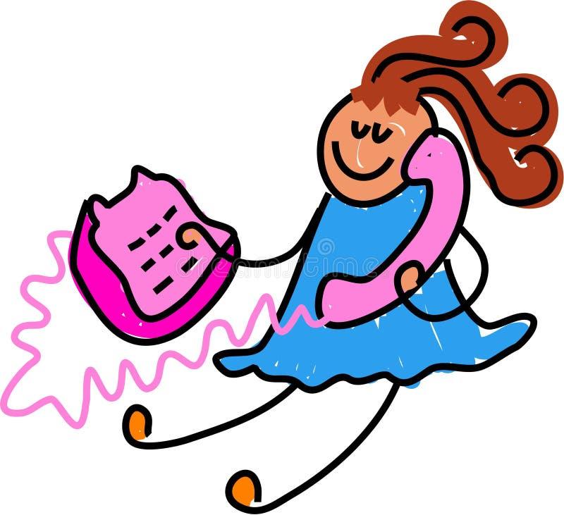 telefon dzieciaka. ilustracji