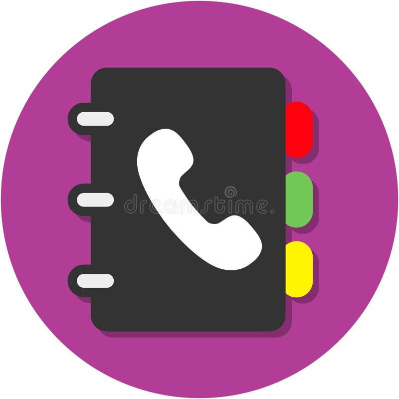 telefon för adressbok arkivfoto