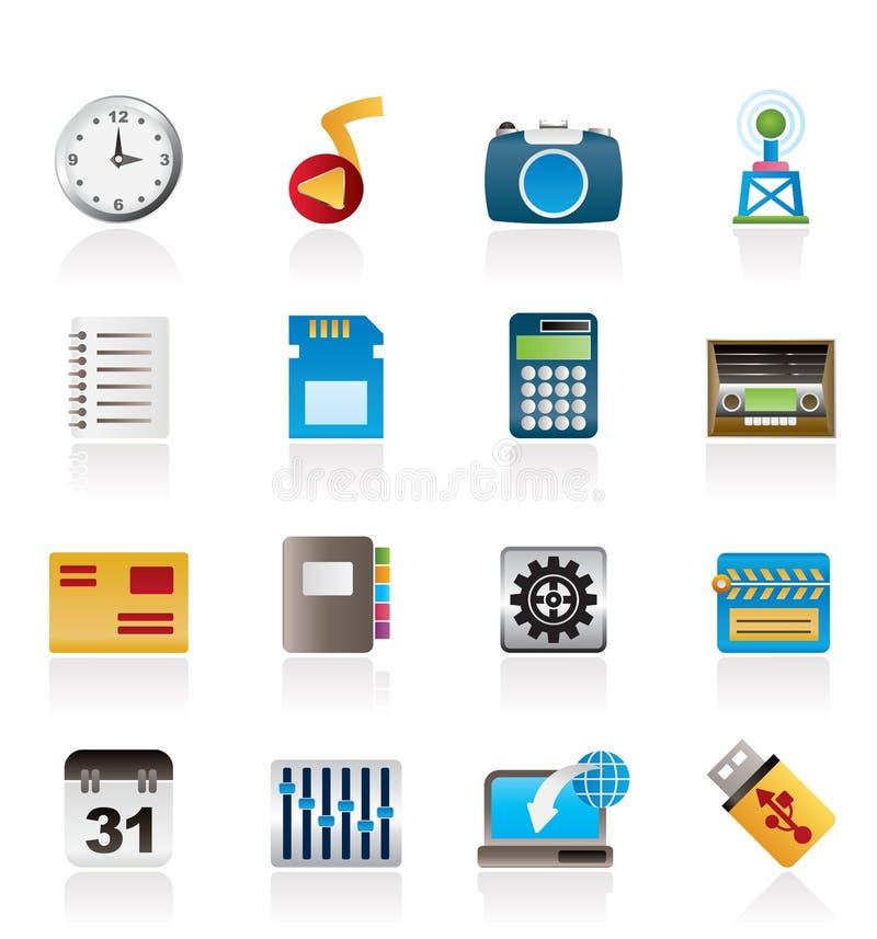 telefon för kapacitet för symbolsinternetkontor royaltyfri illustrationer