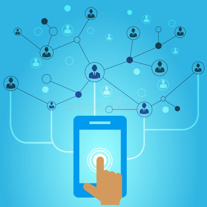 telefon för mobil för handholdingsymboler arkivbild