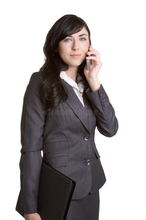 Telefon-Frau lizenzfreie stockbilder