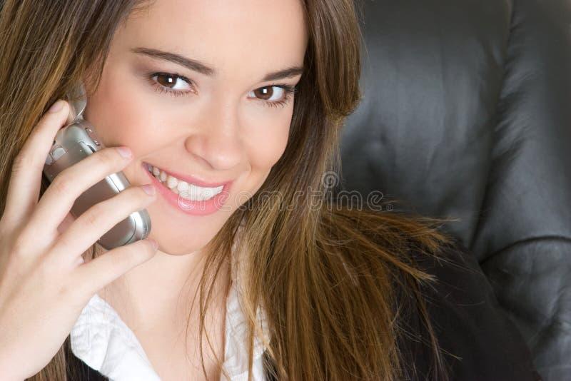 Telefon-Geschäftsfrau stockfotos