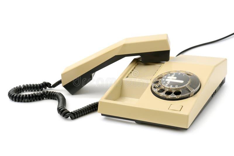 Telefon getrennt auf Weiß lizenzfreie stockfotografie