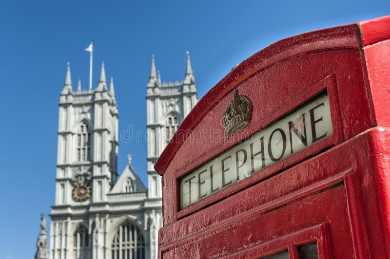 Telefon i opactwo abbey obraz stock