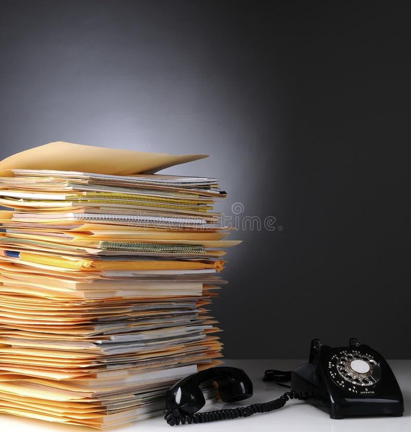 Telefon i Sterta Kartoteki obraz royalty free