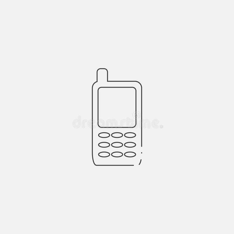 telefon ikona, wektorowa ilustracja Mieszkanie kreskowa ikona ilustracji