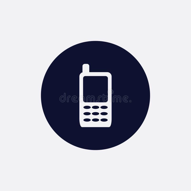 telefon ikona, wektorowa ilustracja Płaska round ikona ilustracji