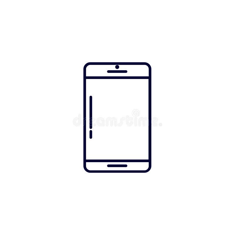 telefon ikona, wektorowa ilustracja Płaski ikona wektor Na białym tle ilustracji