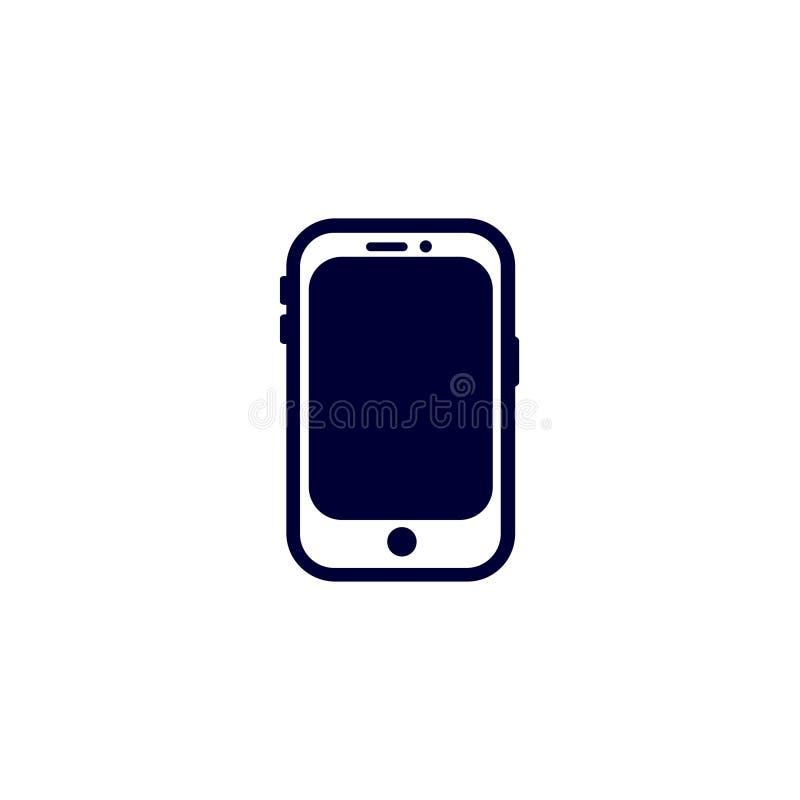 telefon ikona, wektorowa ilustracja Płaski ikona wektor Na białym tle royalty ilustracja