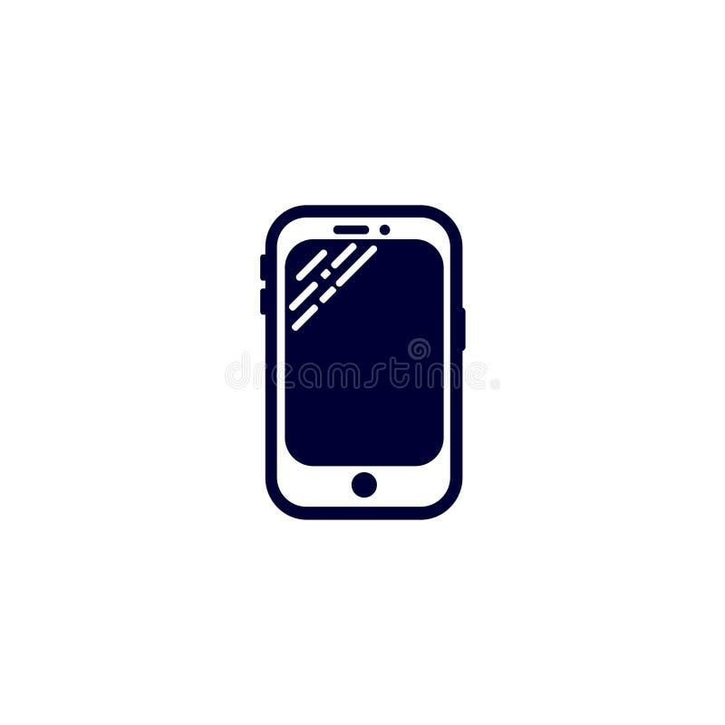 telefon ikona, wektorowa ilustracja Płaski ikona wektor Na białym tle ilustracja wektor