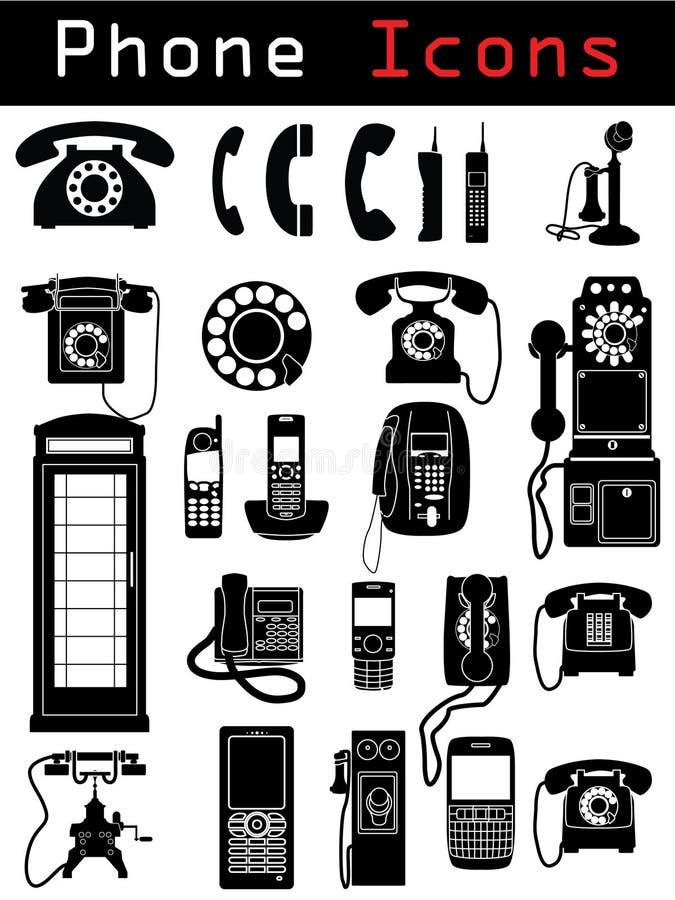 Telefon-Ikonen lizenzfreies stockbild