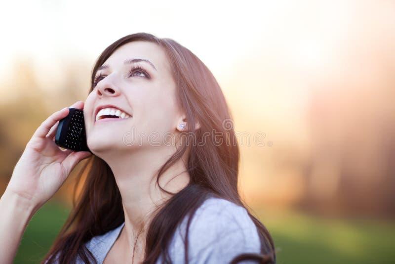 telefon kobieta obraz stock