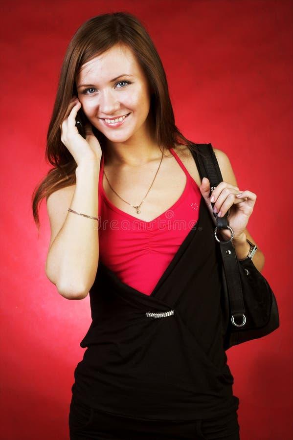 telefon kobieta zdjęcie royalty free