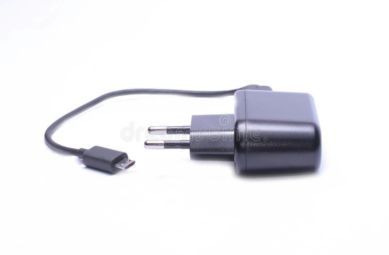 Telefon komórkowy ładowarki kabel obraz stock