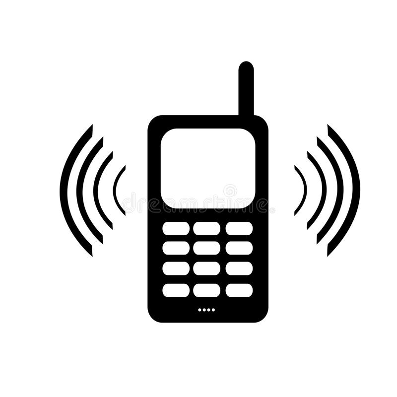 Telefon komórkowy żadny znak: Zadawala use rozedrga lub silen royalty ilustracja