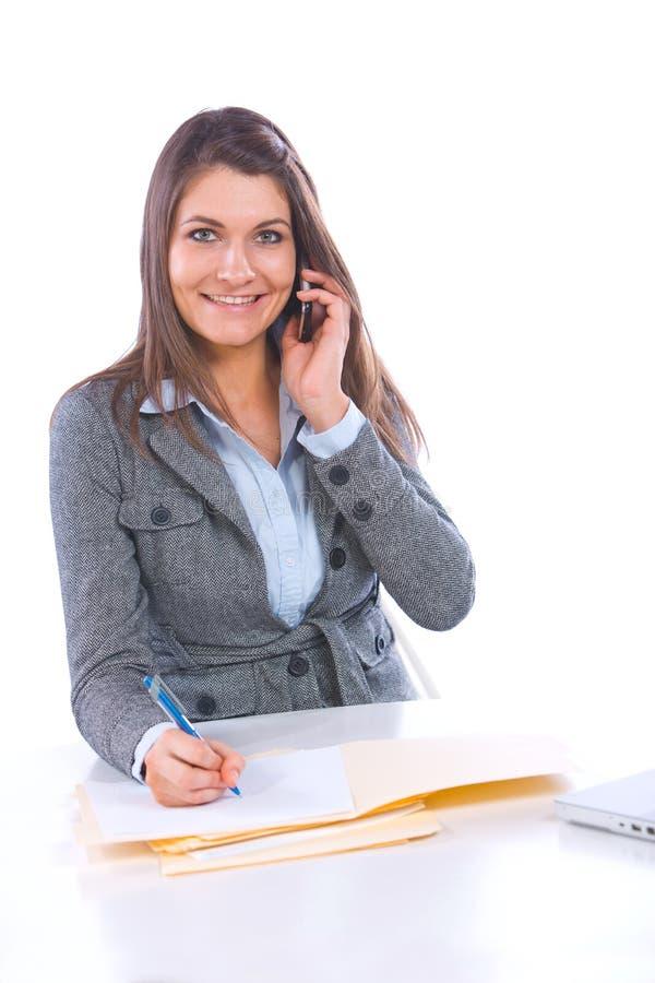 telefon komórkowy biznesowa kobieta obrazy royalty free