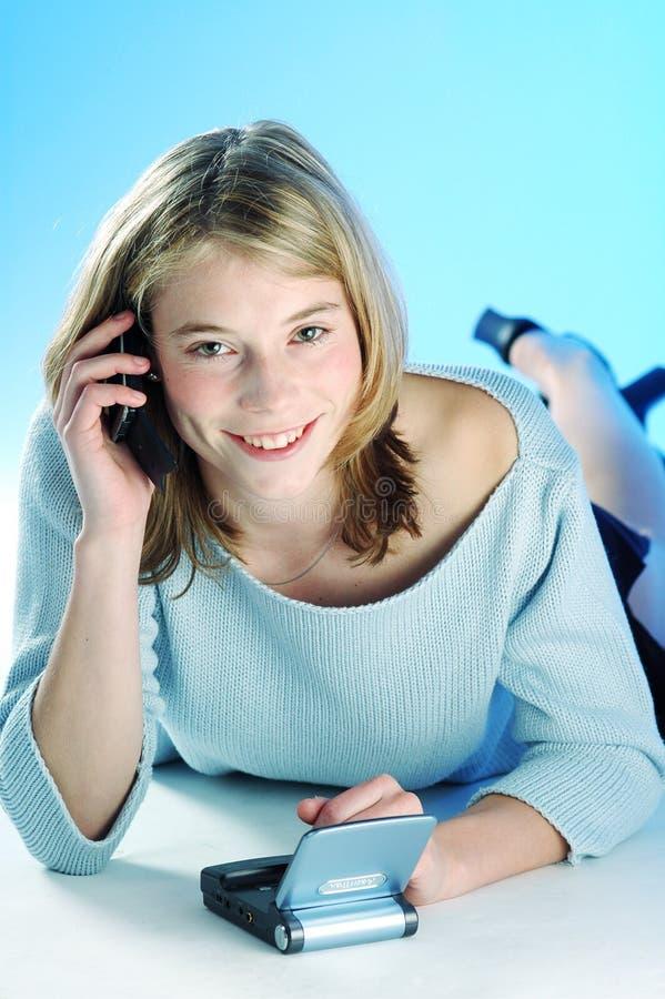 Telefon Komórkowy Dziewczyny Fotografia Royalty Free