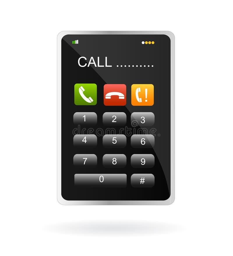 telefon komórkowy ekranu dotyk royalty ilustracja