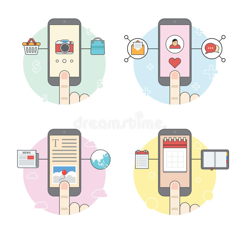 Telefon komórkowy funkcja royalty ilustracja