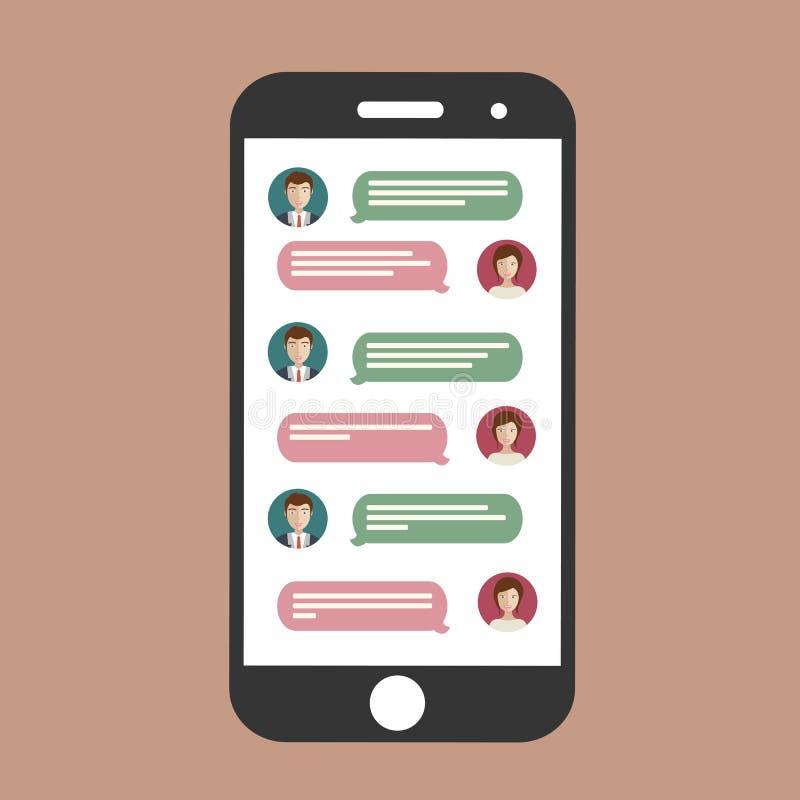 Telefon komórkowy gadka ilustracji