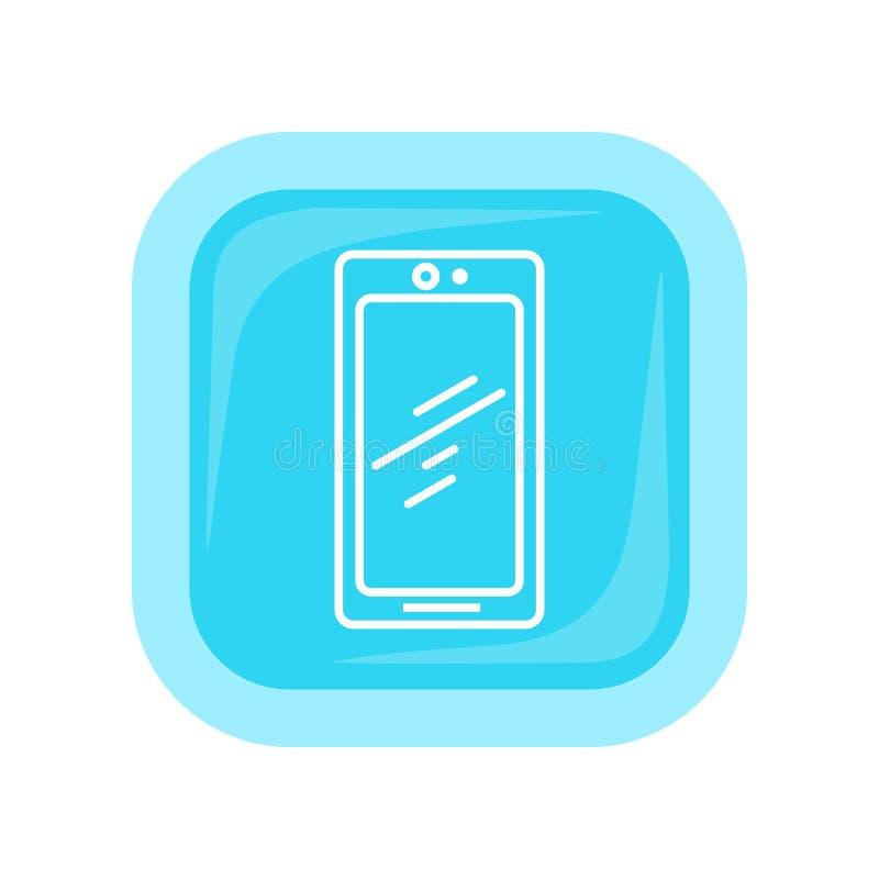 Telefon komórkowy ikona Telefonu komórkowego informator ilustracja wektor
