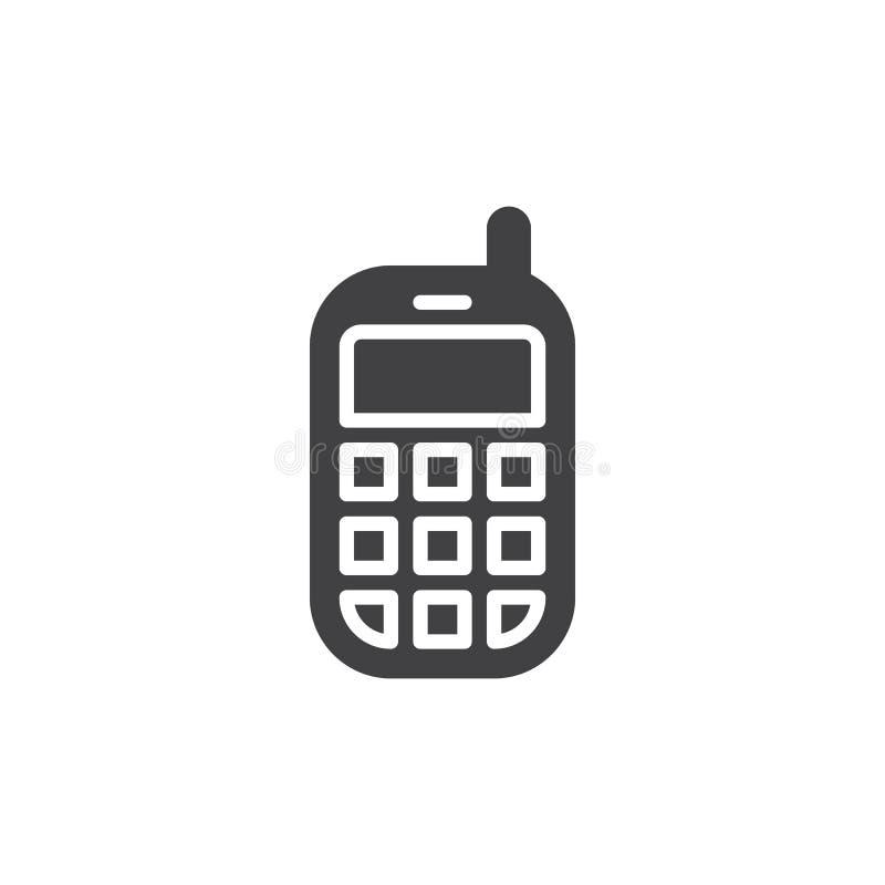 Telefon komórkowy ikony wektor, wypełniający mieszkanie znak ilustracji
