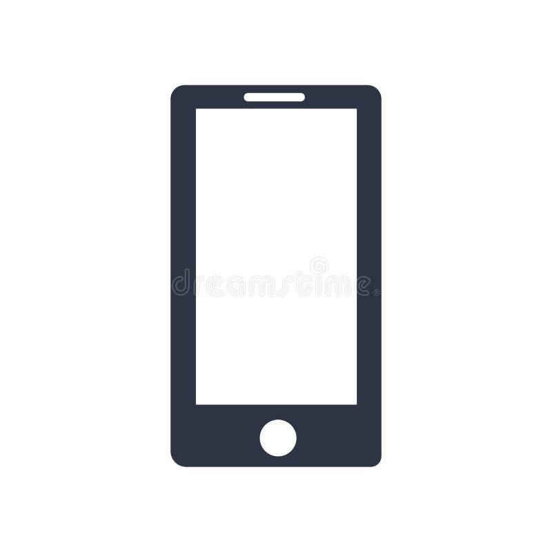 Telefon komórkowy ikony wektoru znak i symbol odizolowywający na białym tle, telefonu komórkowego logo pojęcie ilustracja wektor