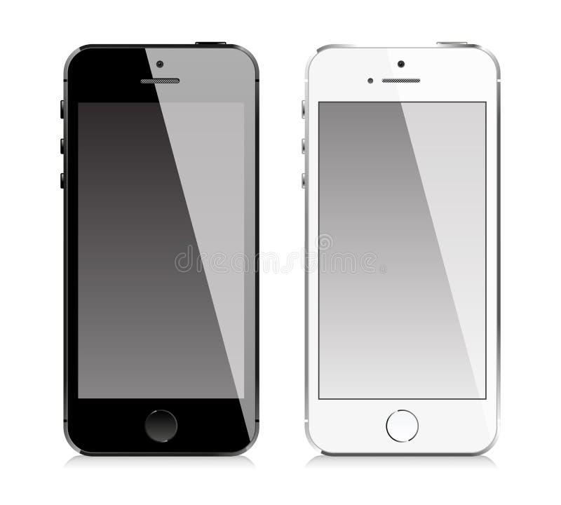 Telefon komórkowy jednakowy iphone styl royalty ilustracja