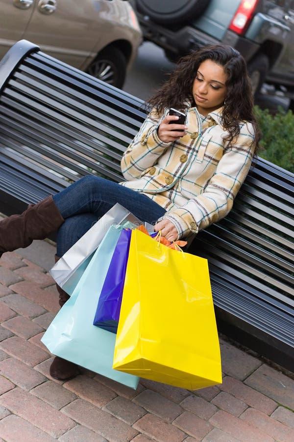 telefon komórkowy kupujący zdjęcie stock