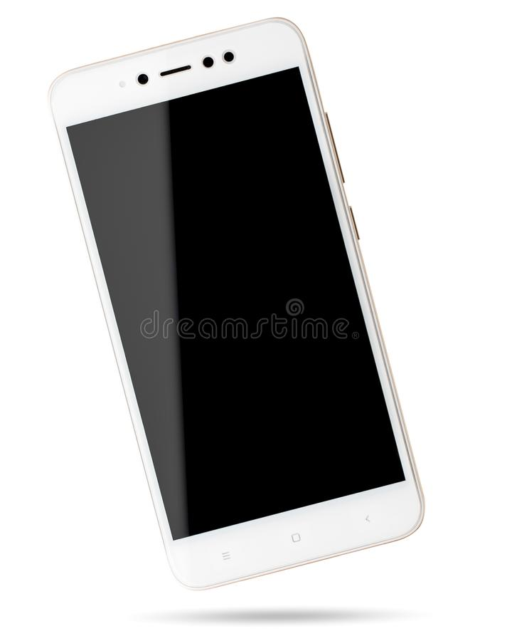 Telefon komórkowy na bielu odosobniony smartphone zdjęcie royalty free