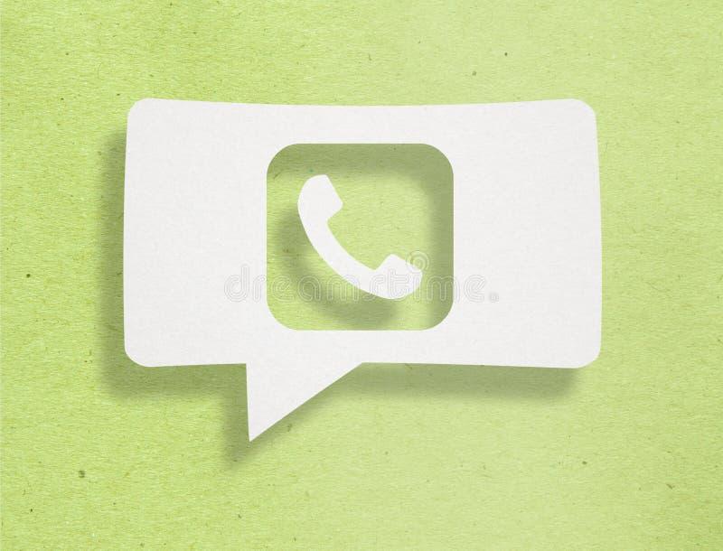 Telefon Komórkowy Na kartonie ilustracji