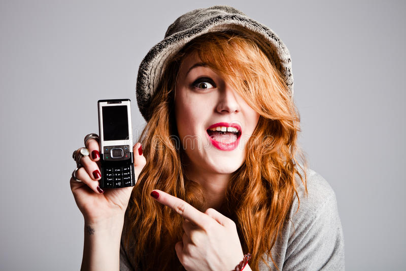telefon komórkowy punkt fotografia stock