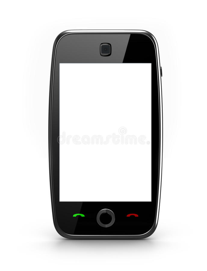 telefon komórkowy pusty ekran ilustracja wektor