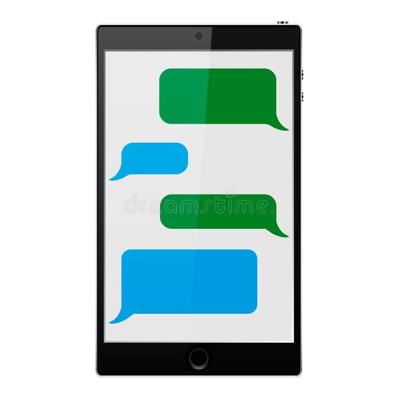Telefon komórkowy również zwrócić corel ilustracji wektora pojęcie cyfrowo wytwarzał cześć wizerunku sieci res socjalny wektor ab ilustracja wektor