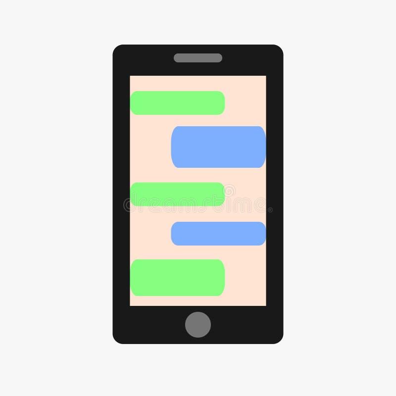 Telefon komórkowy również zwrócić corel ilustracji wektora pojęcie cyfrowo wytwarzał cześć wizerunku sieci res socjalny Vecto ilustracji