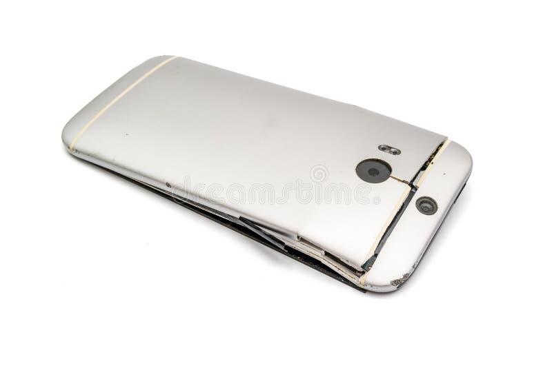 Telefon komórkowy spadać do pęknięcie zdjęcie royalty free