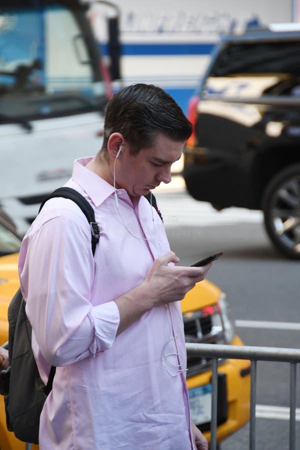 telefon komórkowy texting obrazy royalty free