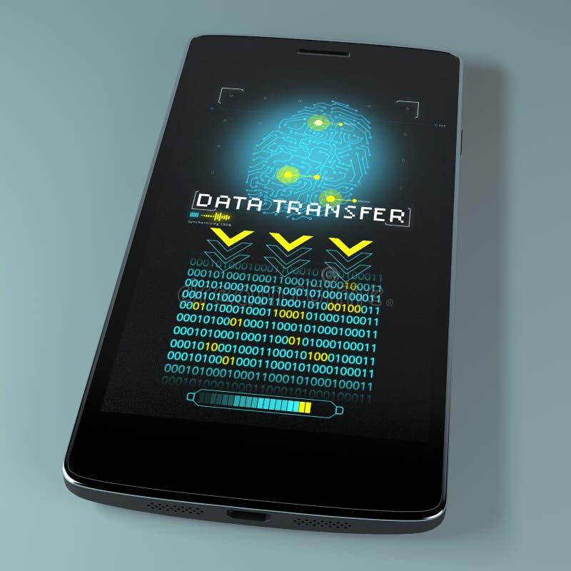 Telefon komórkowy, transfer danych, wsparcie, sieka Prywatności naruszenie, wyczulony dane naruszający fotografia royalty free