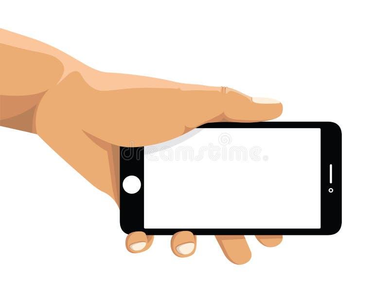 Telefon komórkowy z odcisk palca technologią royalty ilustracja