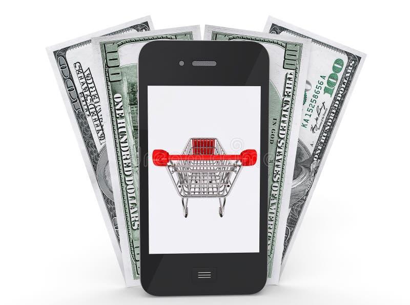 Telefon Komórkowy z pieniądze royalty ilustracja