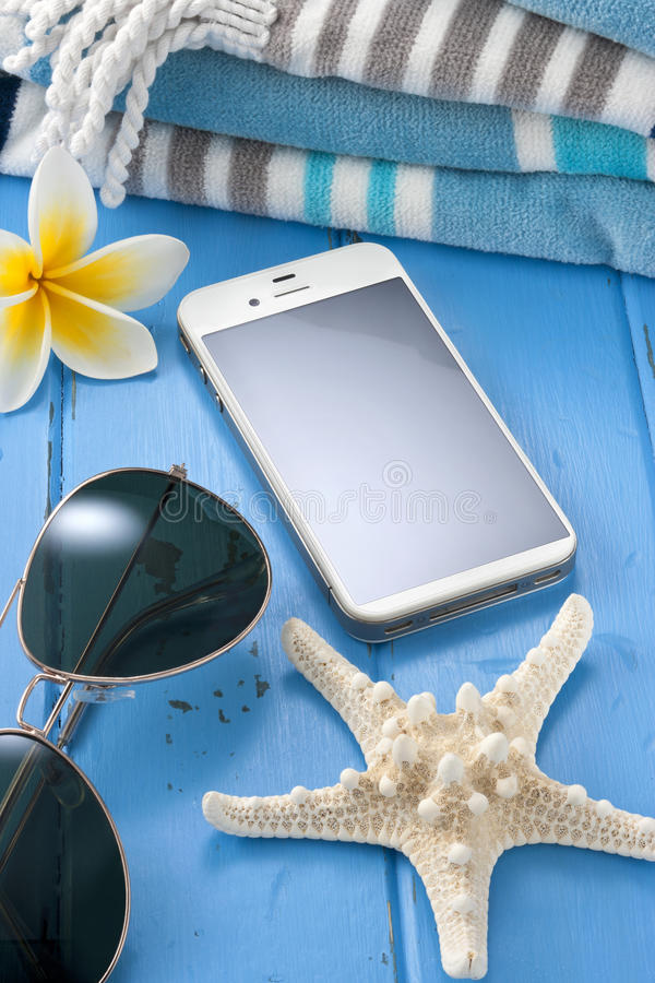 Telefon Komórkowy podróży wakacje fotografia stock