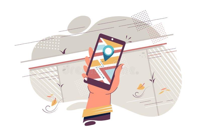 telefon kom?rkowy nawigacja ilustracja wektor