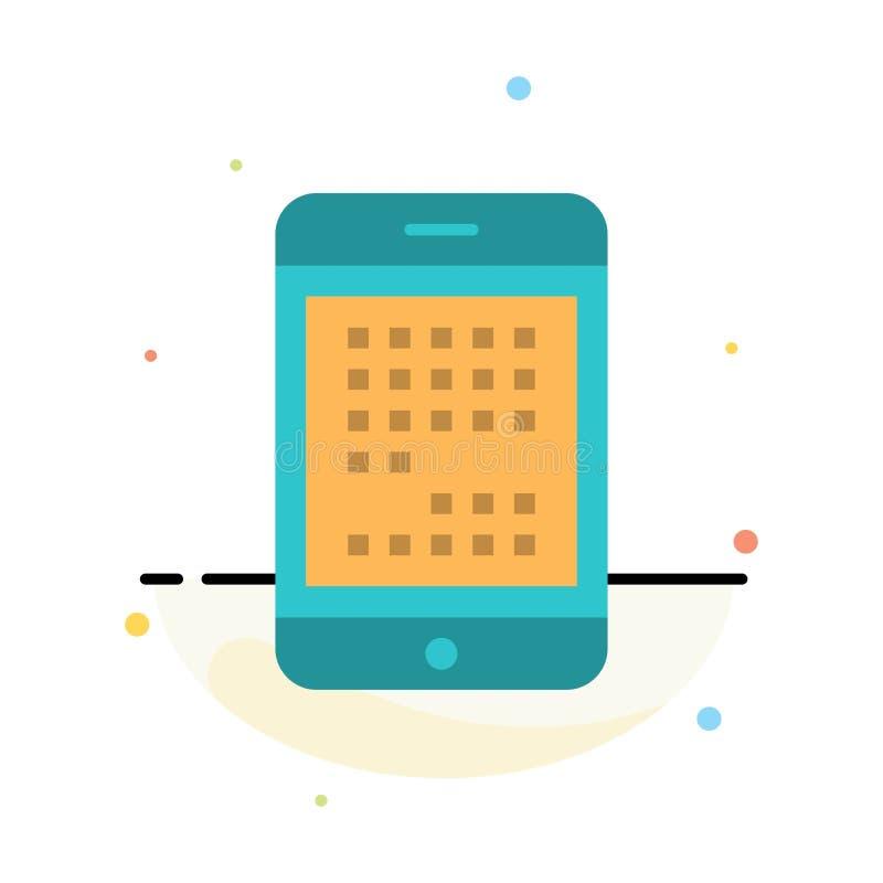 Telefon, komputer, przyrząd, Digital, Ipad, Mobilny Abstrakcjonistyczny Płaski kolor ikony szablon royalty ilustracja