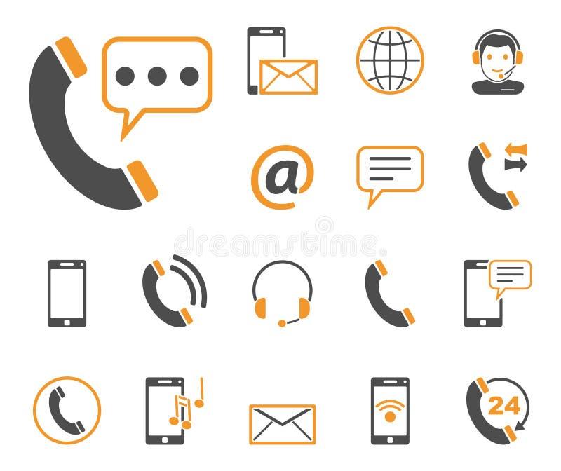 Telefon & komunikacja ikony - Iconset - ilustracja wektor