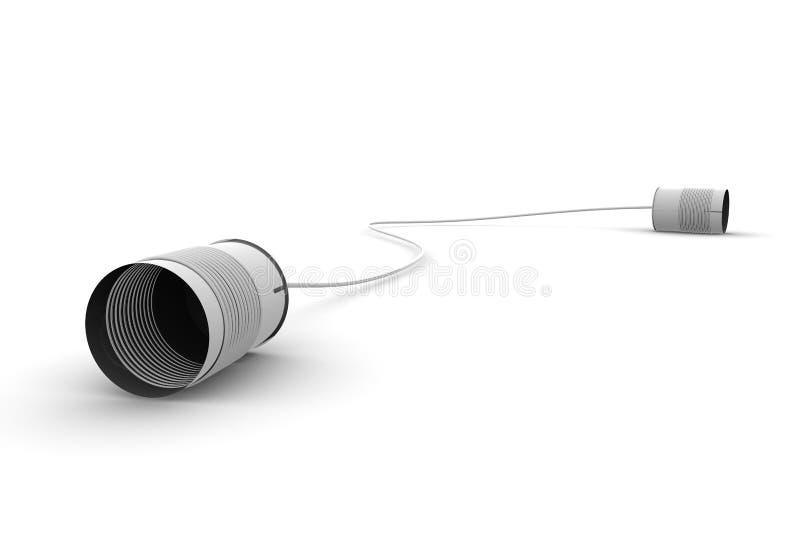 telefon komunikacyjna cyna ilustracji