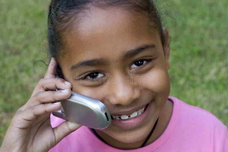 Telefon-Mädchen stockbild