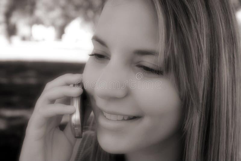 Download Telefon-Mädchen stockbild. Bild von beweglich, zellen, telefone - 34615