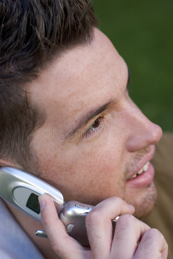 Telefon-Mann stockfotos